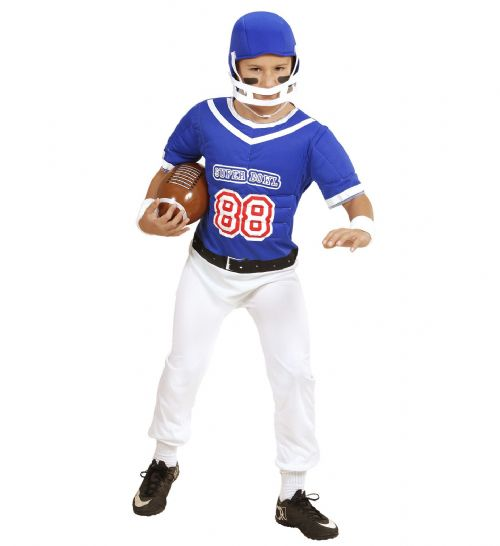 Boys American Football Player Costume Fancy Dress